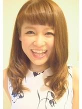 前髪短めフェミニンスタイル!